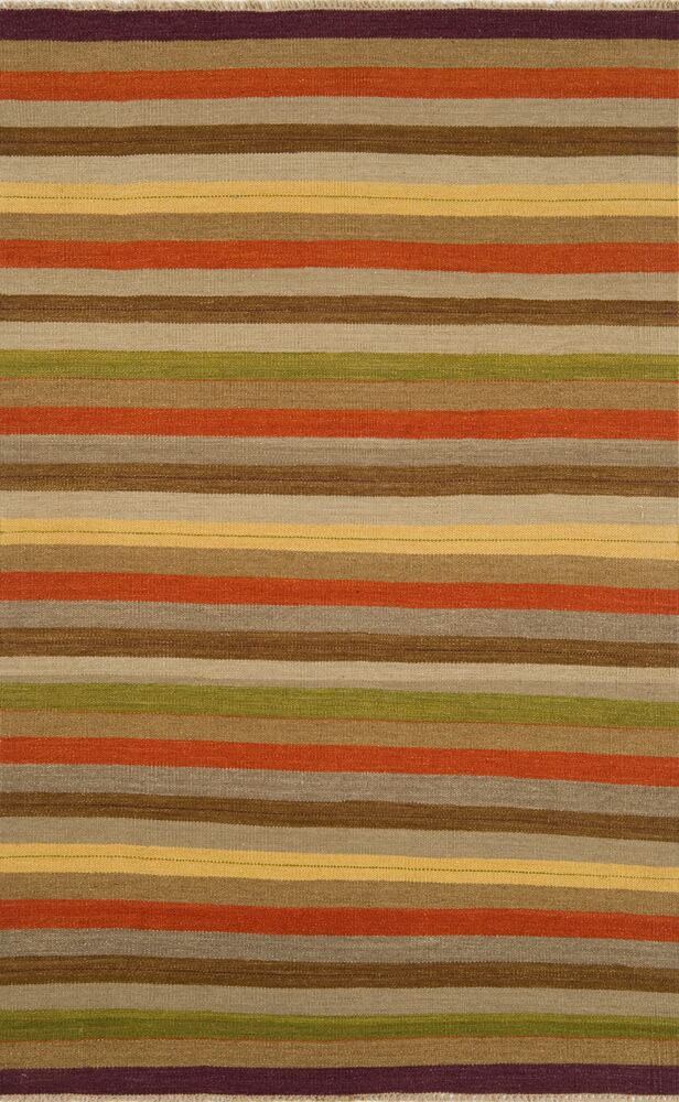 Hand-Knotted Wool Brown Area Rug Rug Size: Rectangle 5' x 8'