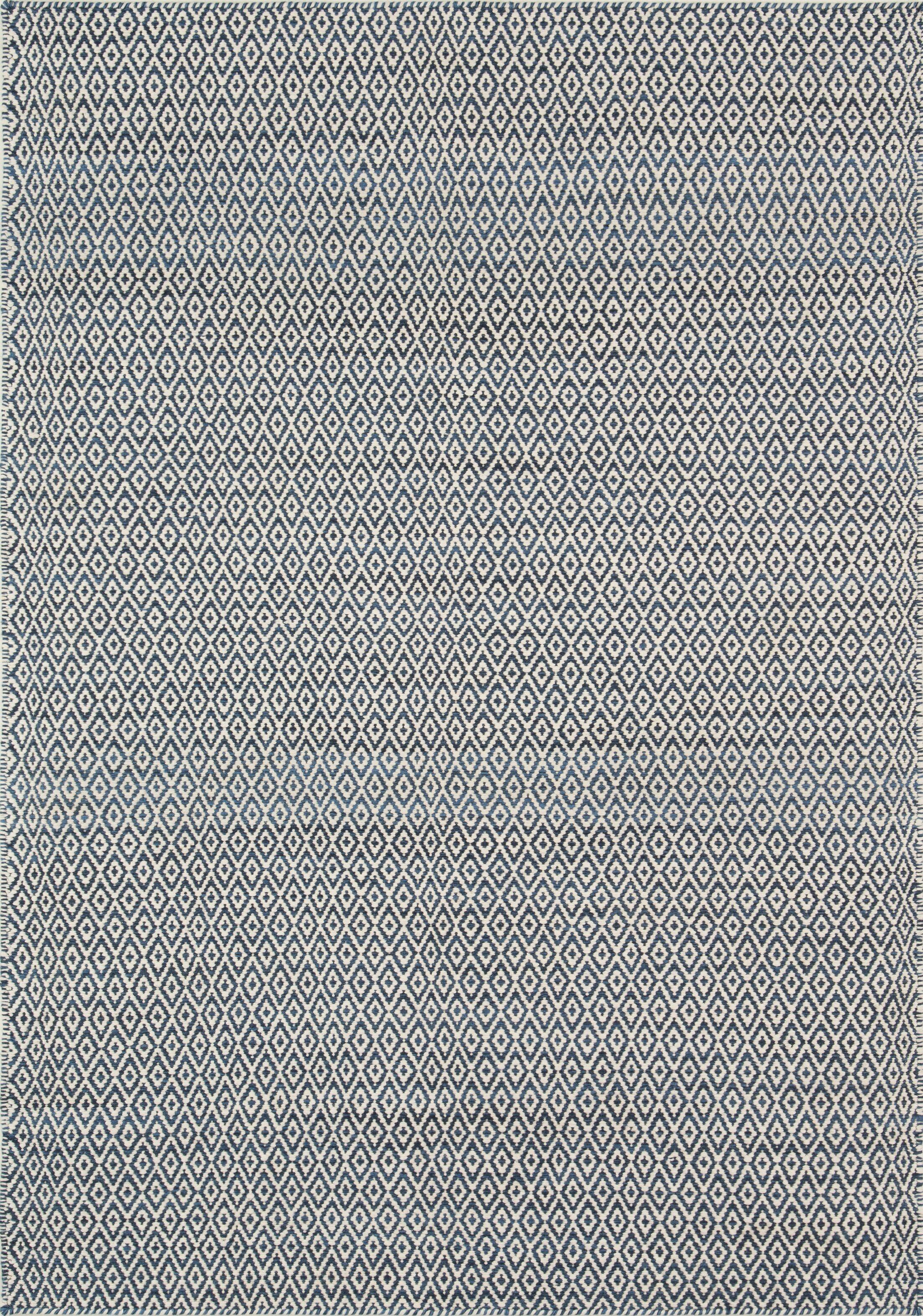 Brooklington Handwoven  Flatweave Wool Blue Area Rug Rug Size: Rectangle 3'6