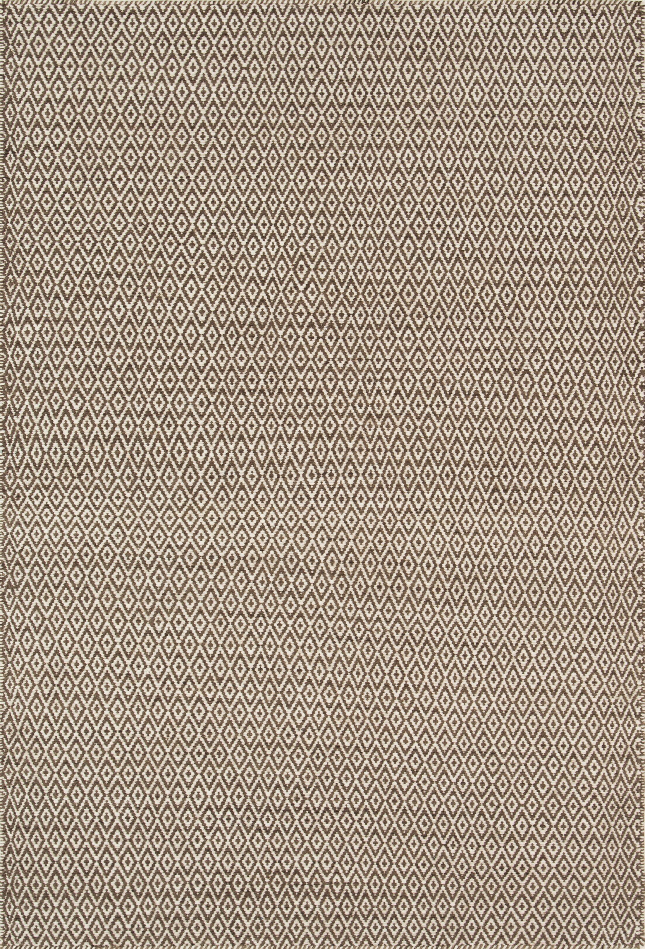 Brooklington Handwoven Flatweave Wool Brown Area Rug Rug Size: Rectangle 5' x 7'6