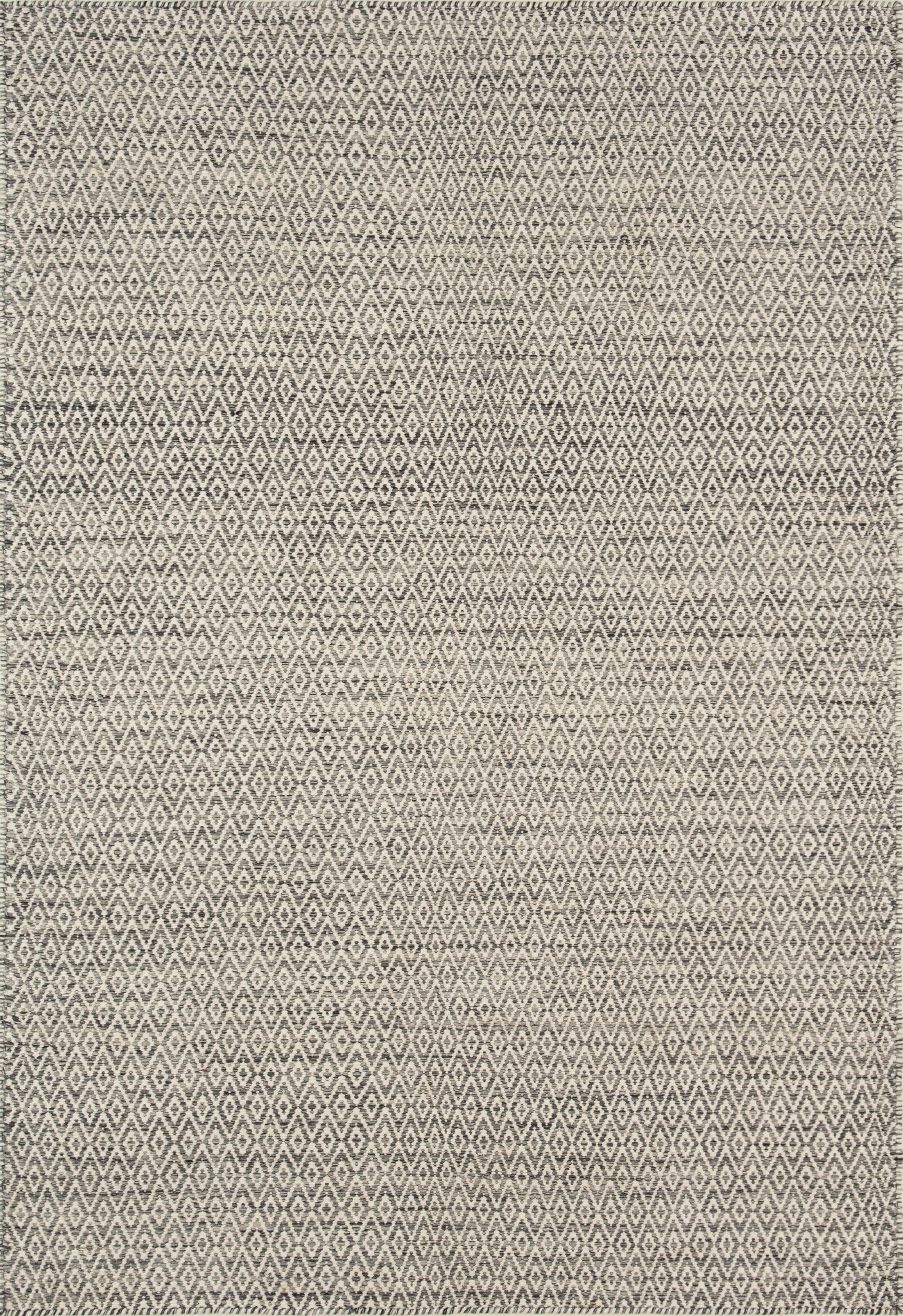 Brooklington Handwoven Flatweave Wool Gray Area Rug Rug Size: Rectangle 7'6