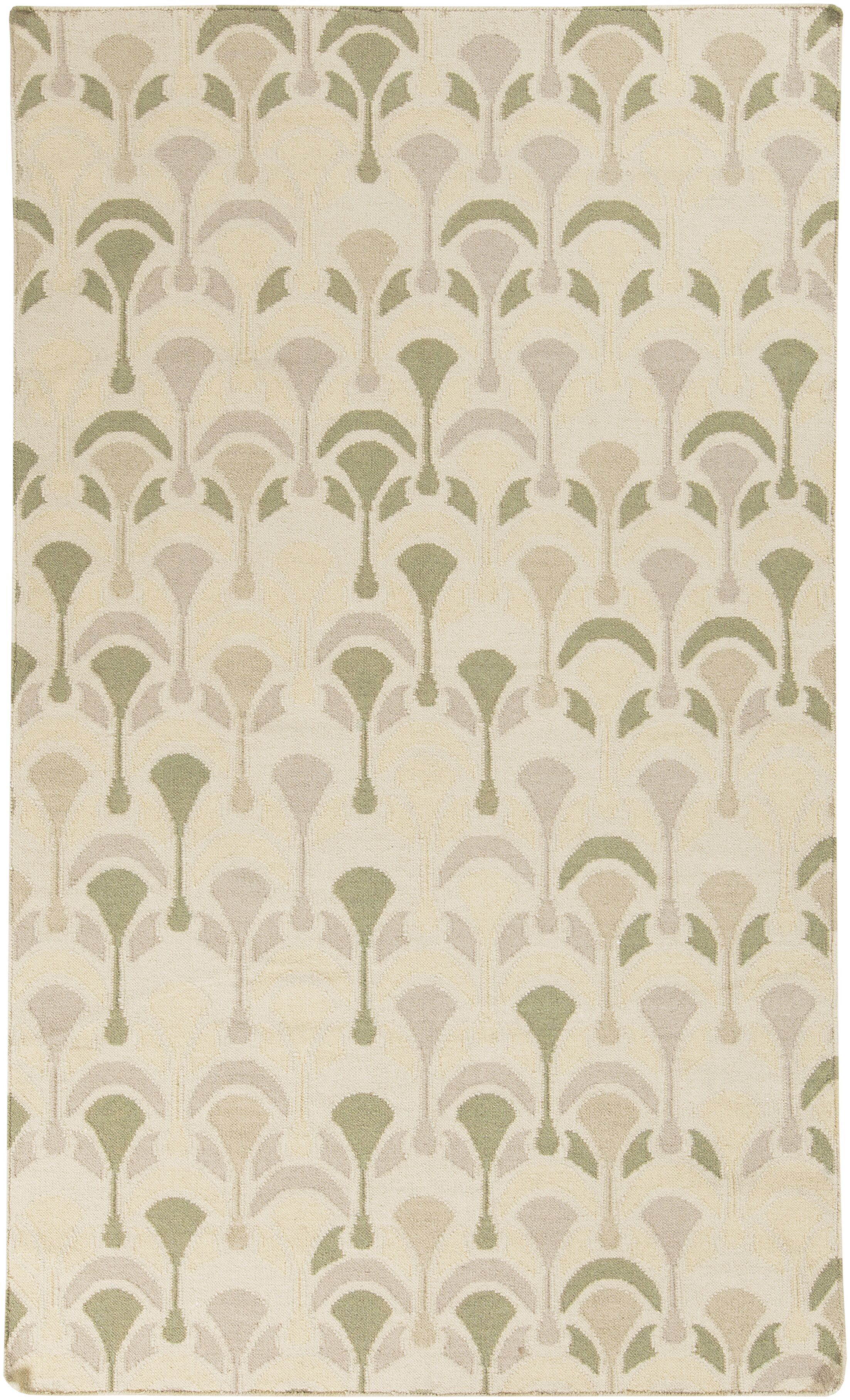 Voyages Olive Geometric Area Rug Rug Size: Rectangle 5' x 8'
