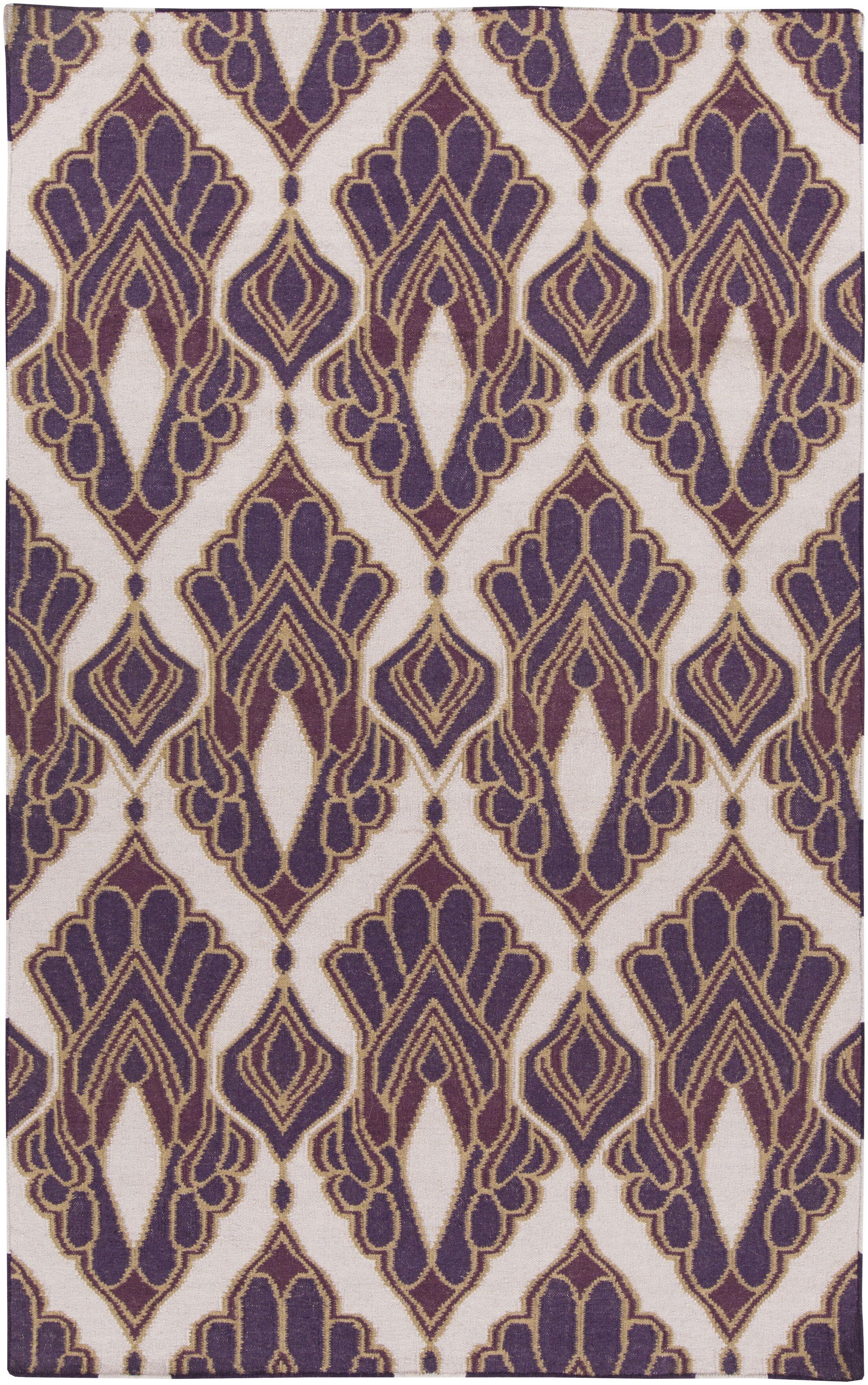 Voyages Violet Ikat/Suzani Area Rug Rug Size: Rectangle 2' x 3'