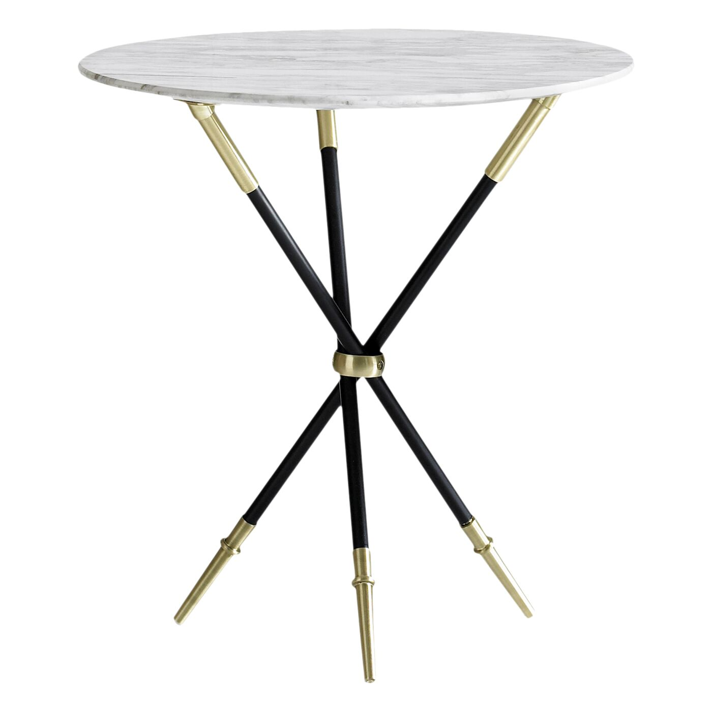 Rider Tripod End Table Color: Black / Brass