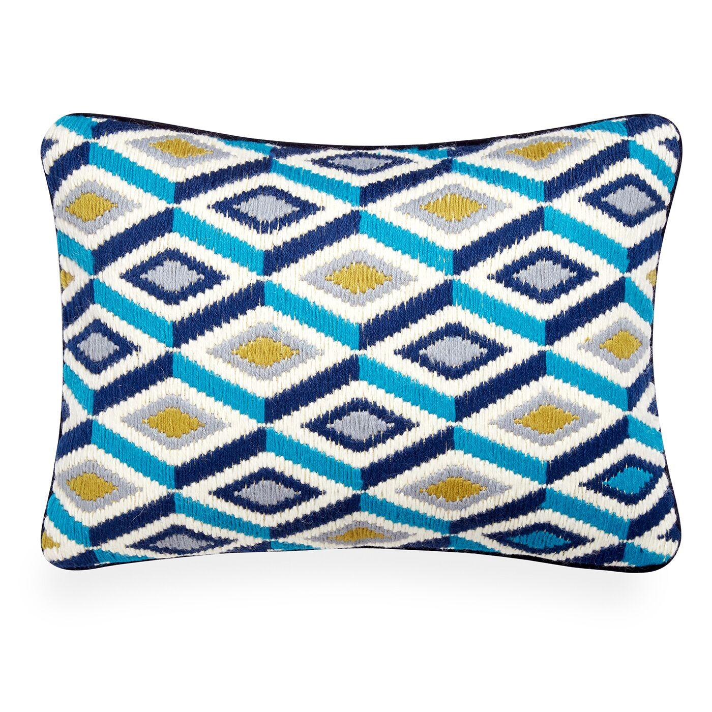 Bargello Pillow Color: Turquoise/Citron