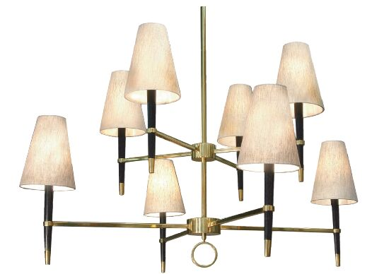Ventana 8-Light Shaded Chandelier Finish: Antique Brass, Shape: Abstract