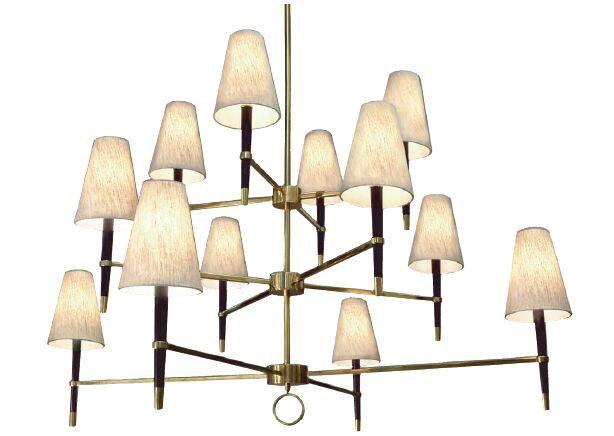 Ventana 12-Light Shaded Chandelier Finish: Antique Brass