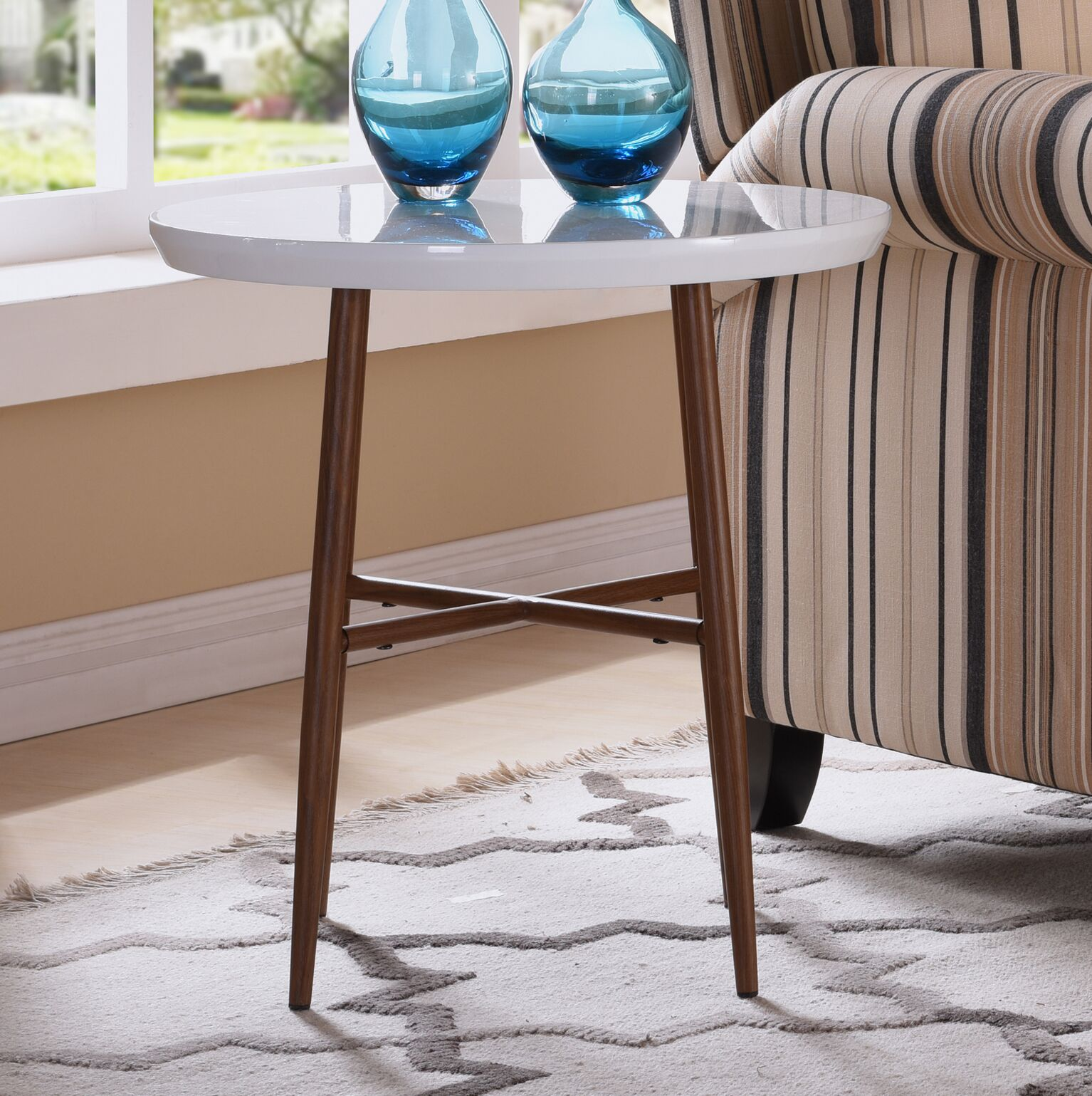 Umstead End Table Color: White