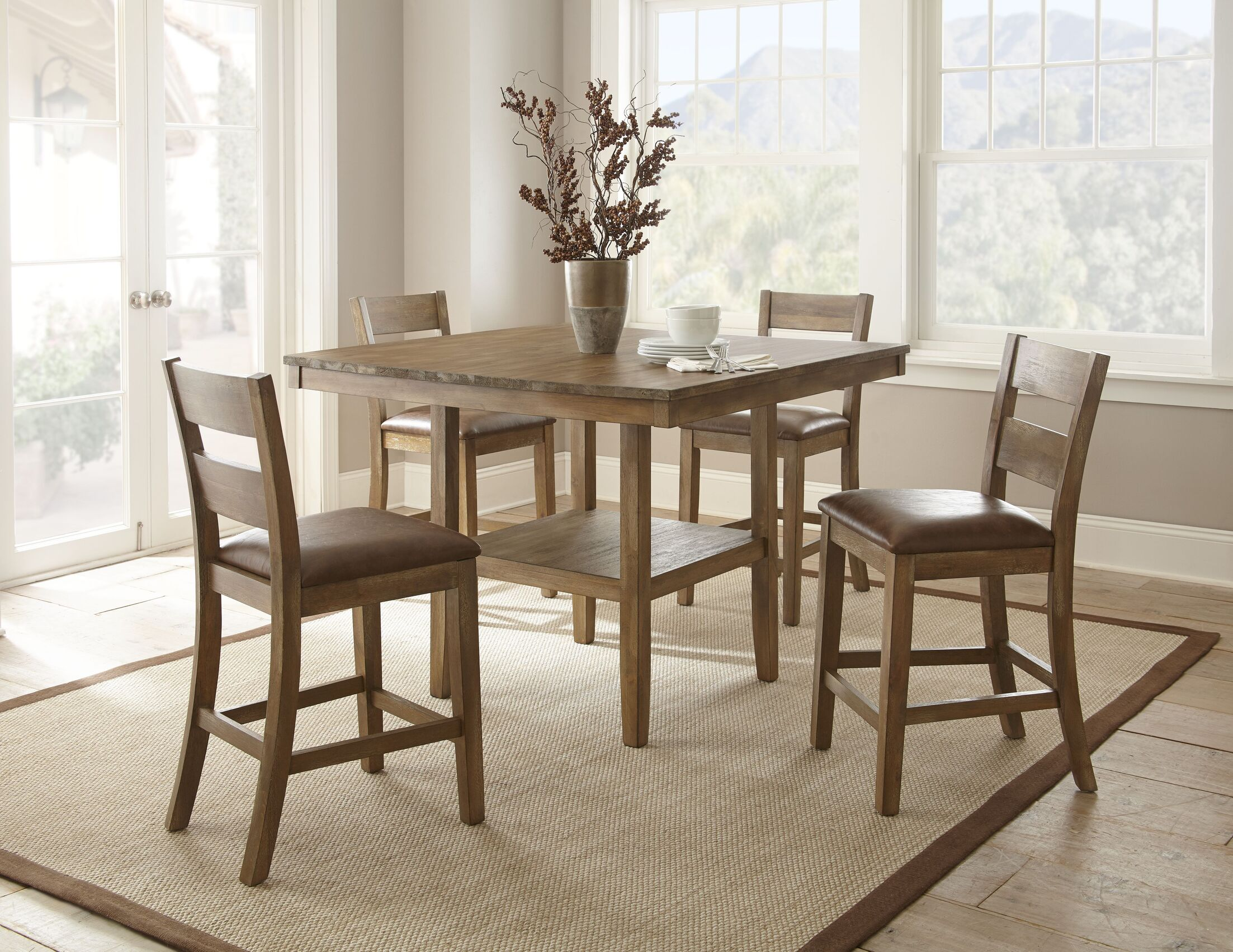 Dining Table Sets Achenbach 5 Piece Counter Height Dining Set