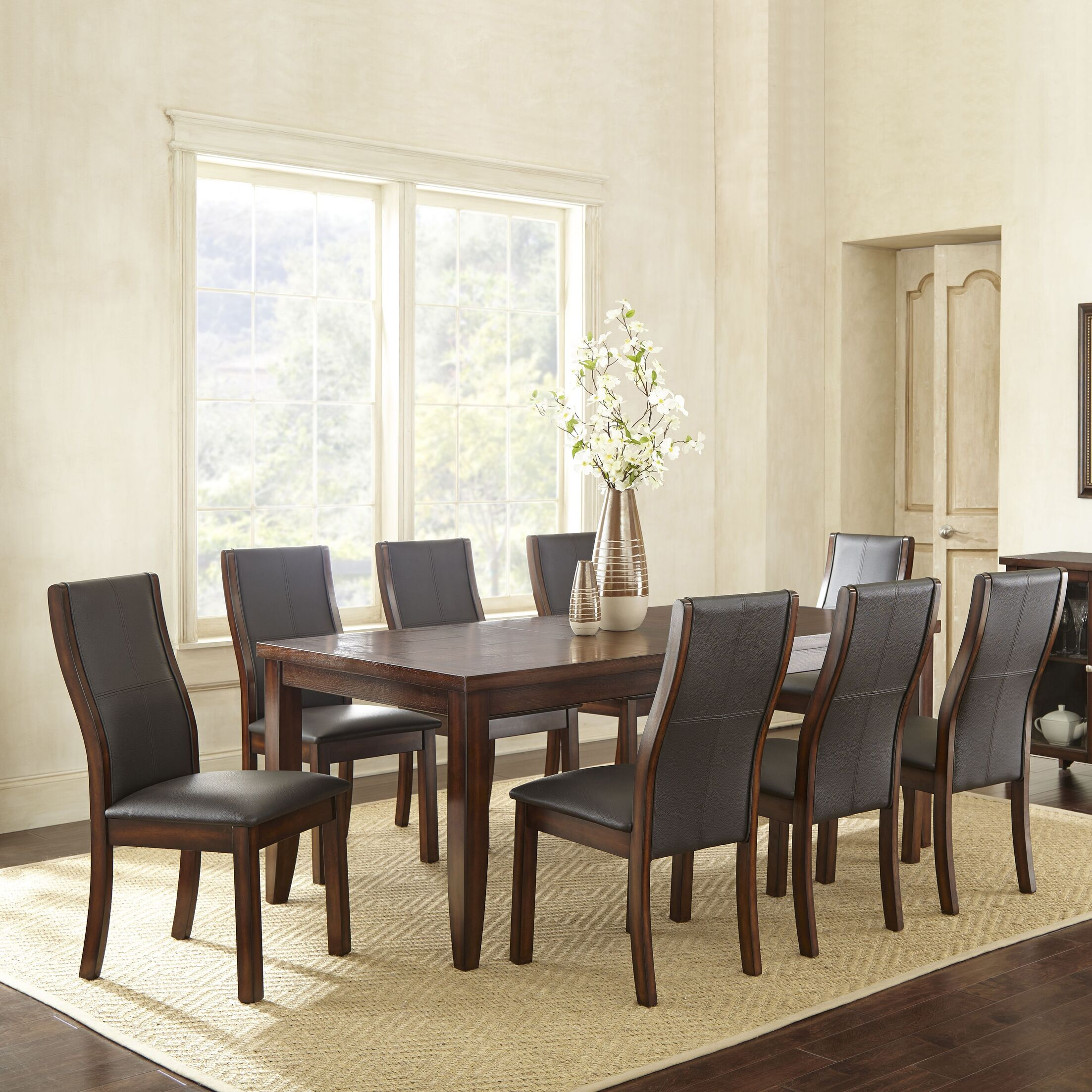 Dining Table Sets Abigale 9 Piece Extendable Dining Set