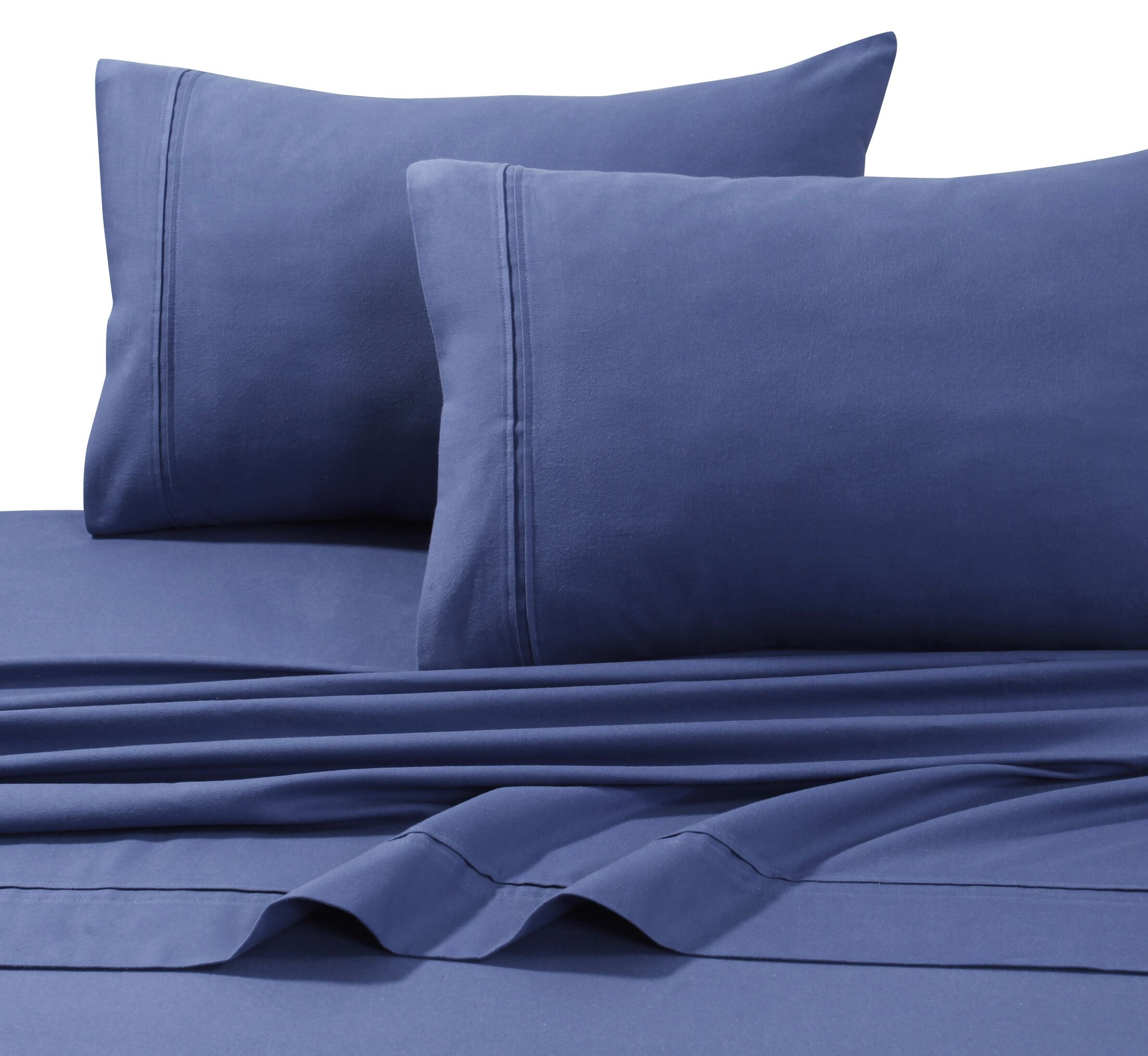 4 Piece Flannel Sheet Set Size: Queen, Color: Moonlight Blue