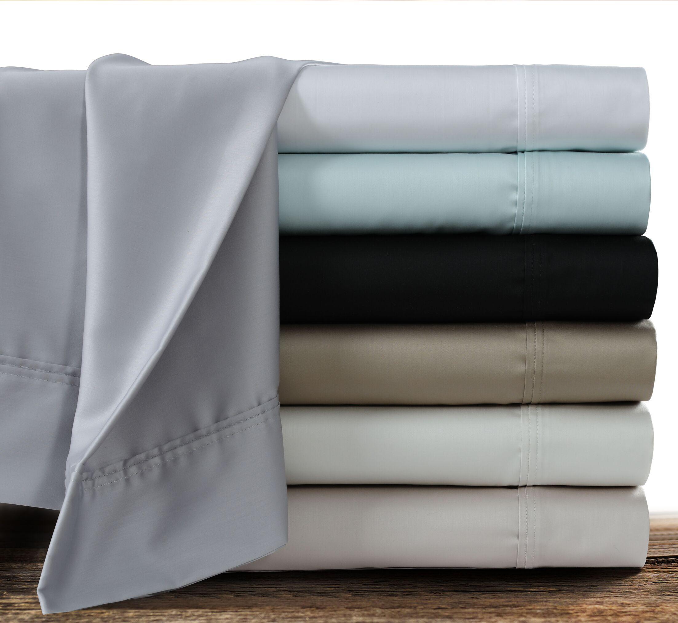 Myrtledale 360 Thread Count 100% Cotton Sheet Set Color: Champagne, Size: King