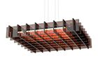 Grid LED Square/Rectangle Pendant Shade Color: Bronze