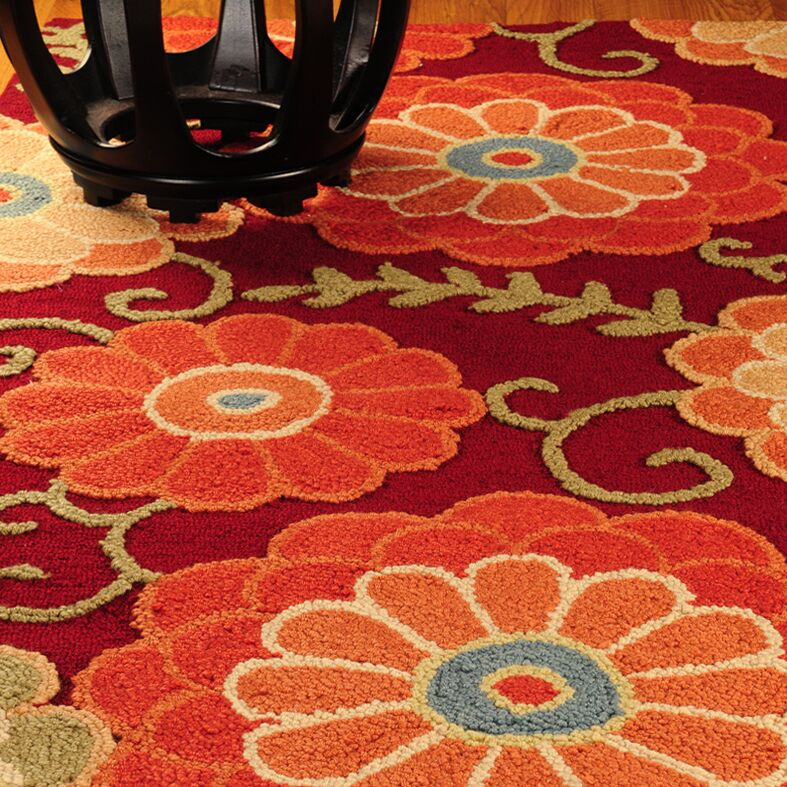 Jute Romance Red Area Rug Rug Size: Rectangle 9' x 12'