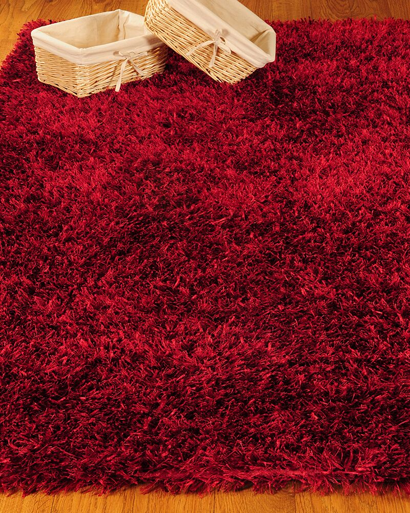 Shag Red Carnation Rug Rug Size: Rectangle 6' x 9'