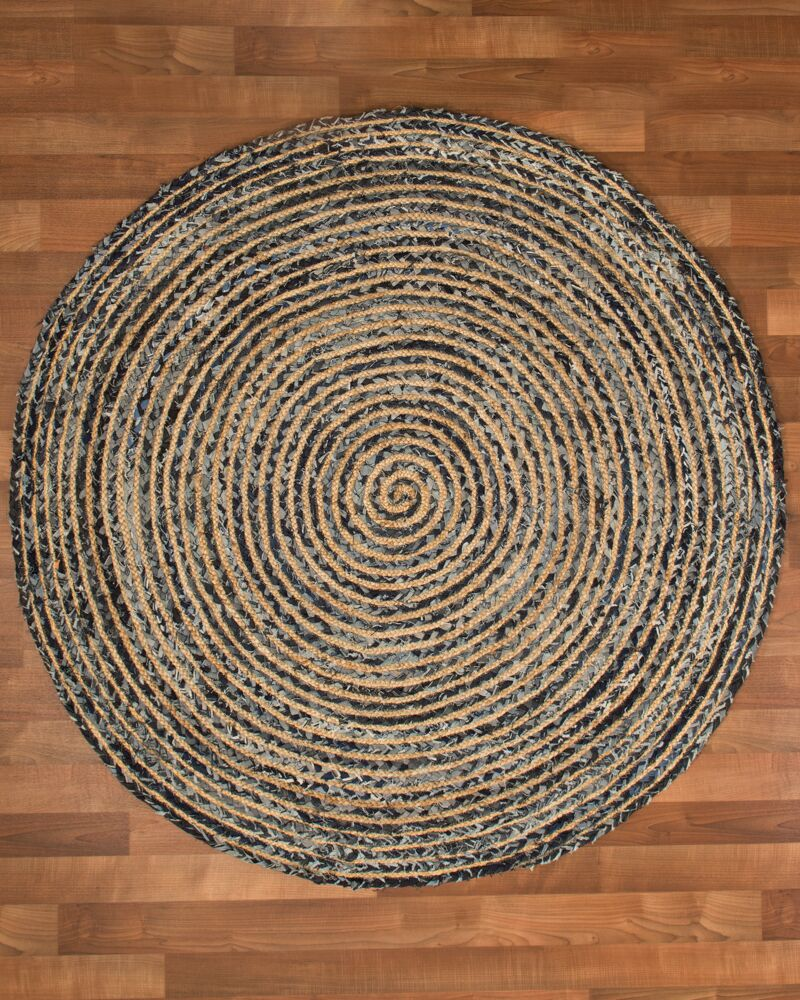 Essence Cotton Natural Area Rug Rug Size: Round 7'