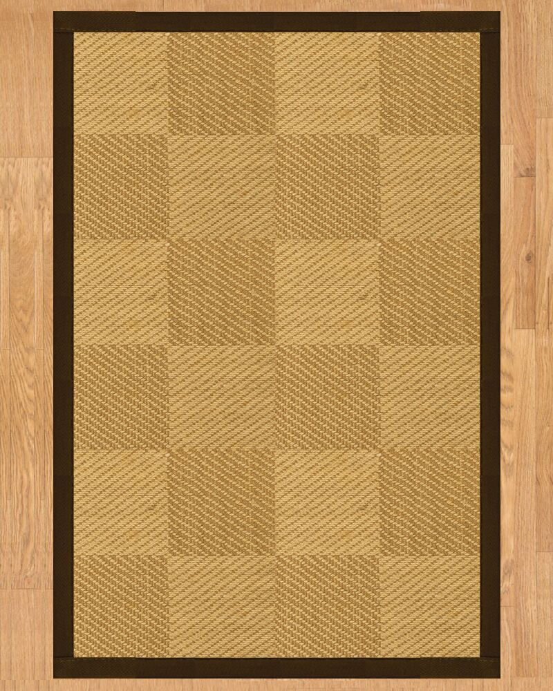 Oberon Hand Crafted Fudge Area Rug Rug Size: Rectangle 5' x 8'