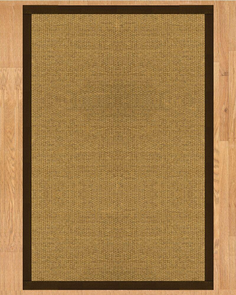Trellis Hand Crafted Fudge Area Rug Rug Size: Rectangle 9' x 12'