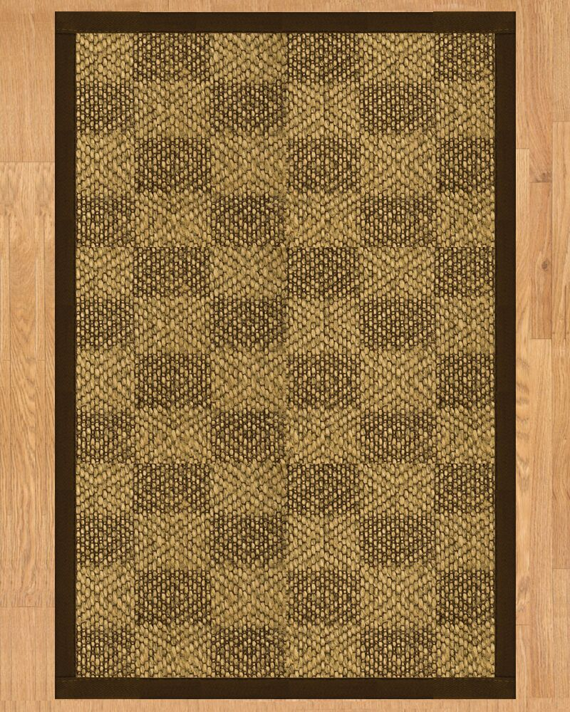 Walden Hand Crafted Brown Area Rug Rug Size: Rectangle 8' x 10'