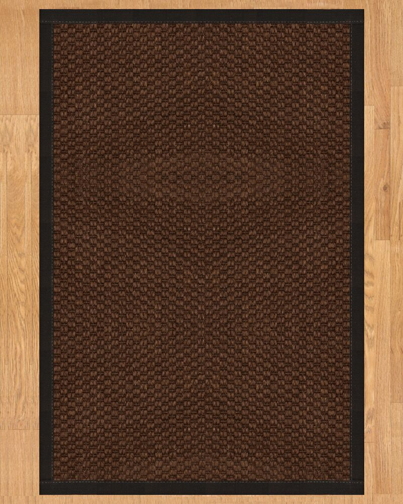Talas Hand Crafted Black Area Rug Rug Size: Rectangle 4' x 6'