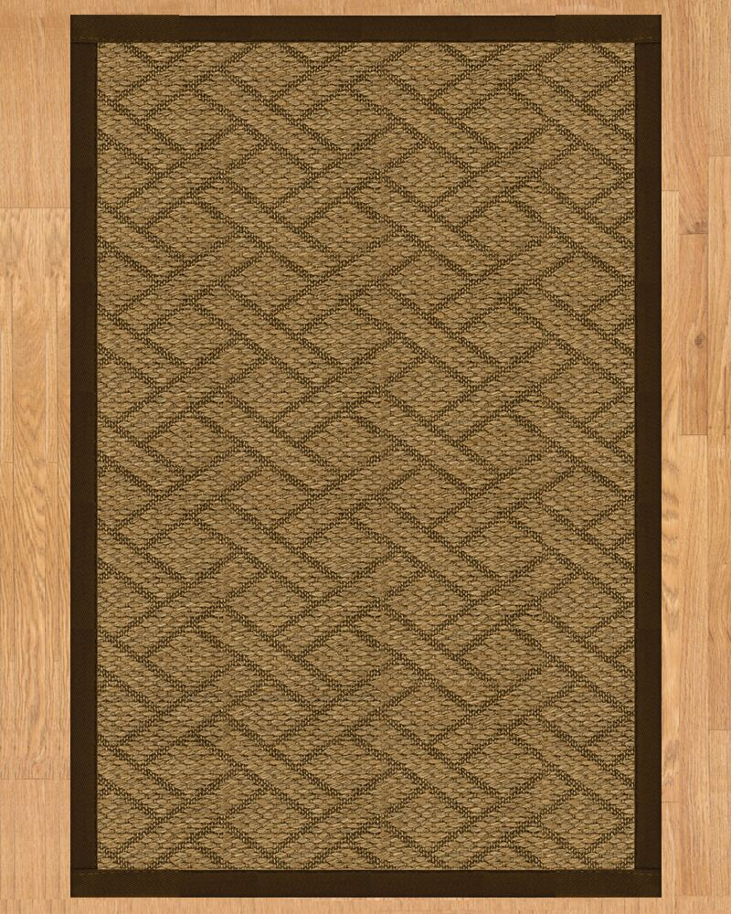Tempo Hand Crafted Brown Area Rug Rug Size: Runner 2'6