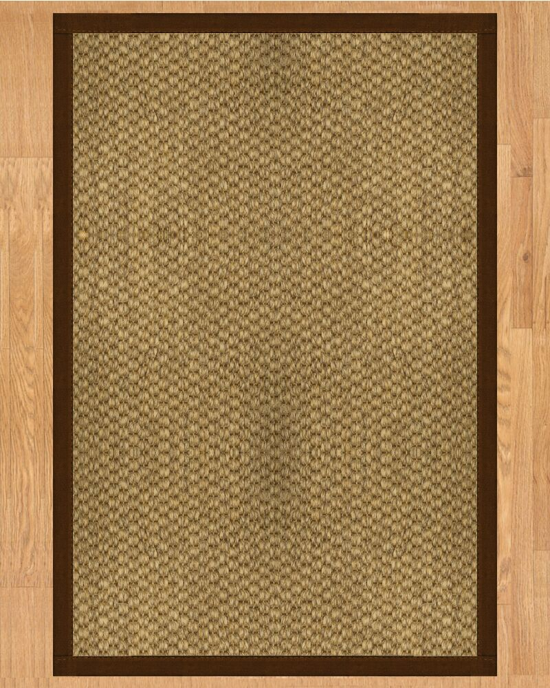 Preston Hand Crafted Brown Area Rug Rug Size: Rectangle 4' x 6'