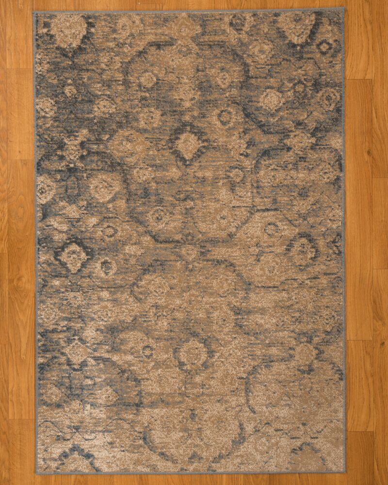 Iris Ivory/Brown Area Rug Rug Size: Rectangle 6'7
