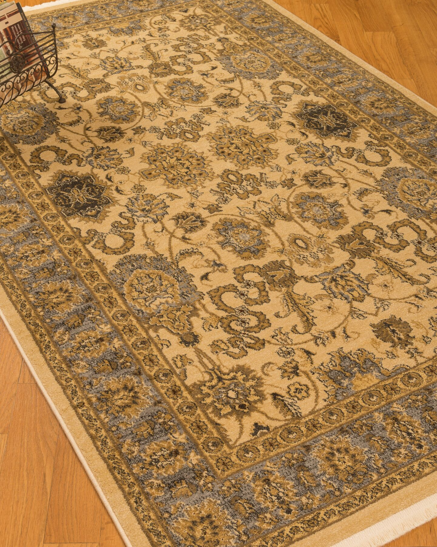 Turkish Beaufort Beige/Brown Area Rug Rug Size: Rectangle 8' x 10'