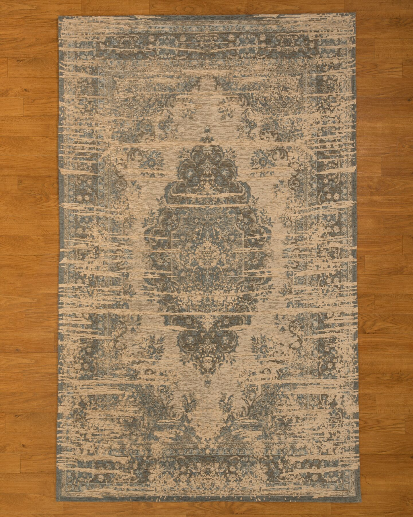 Antelope Gray/Blue Area Rug Rug Size: Rectangle 6' x 9'