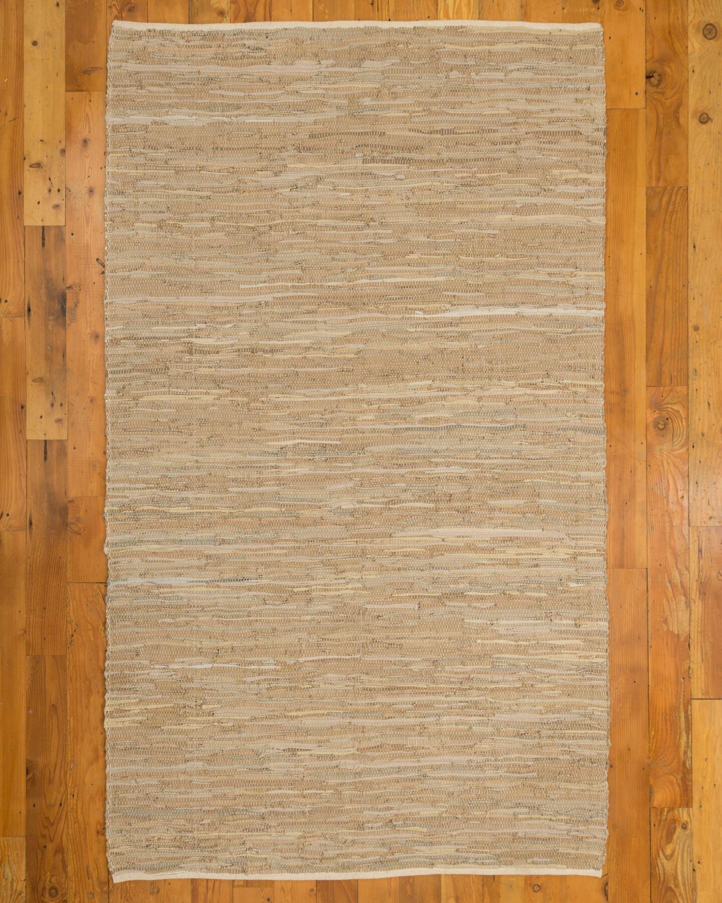 Brisco Handmade Beige Area Rug Rug Size: Rectangle 5' x 8'