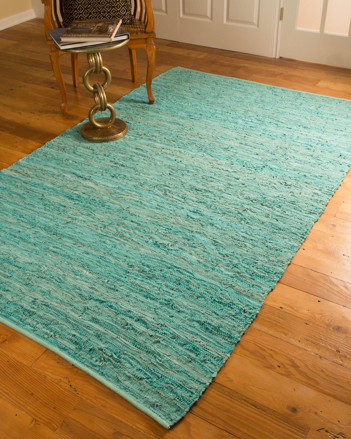 Barras Green Area Rug Rug Size: Rectangle 5' x 8'