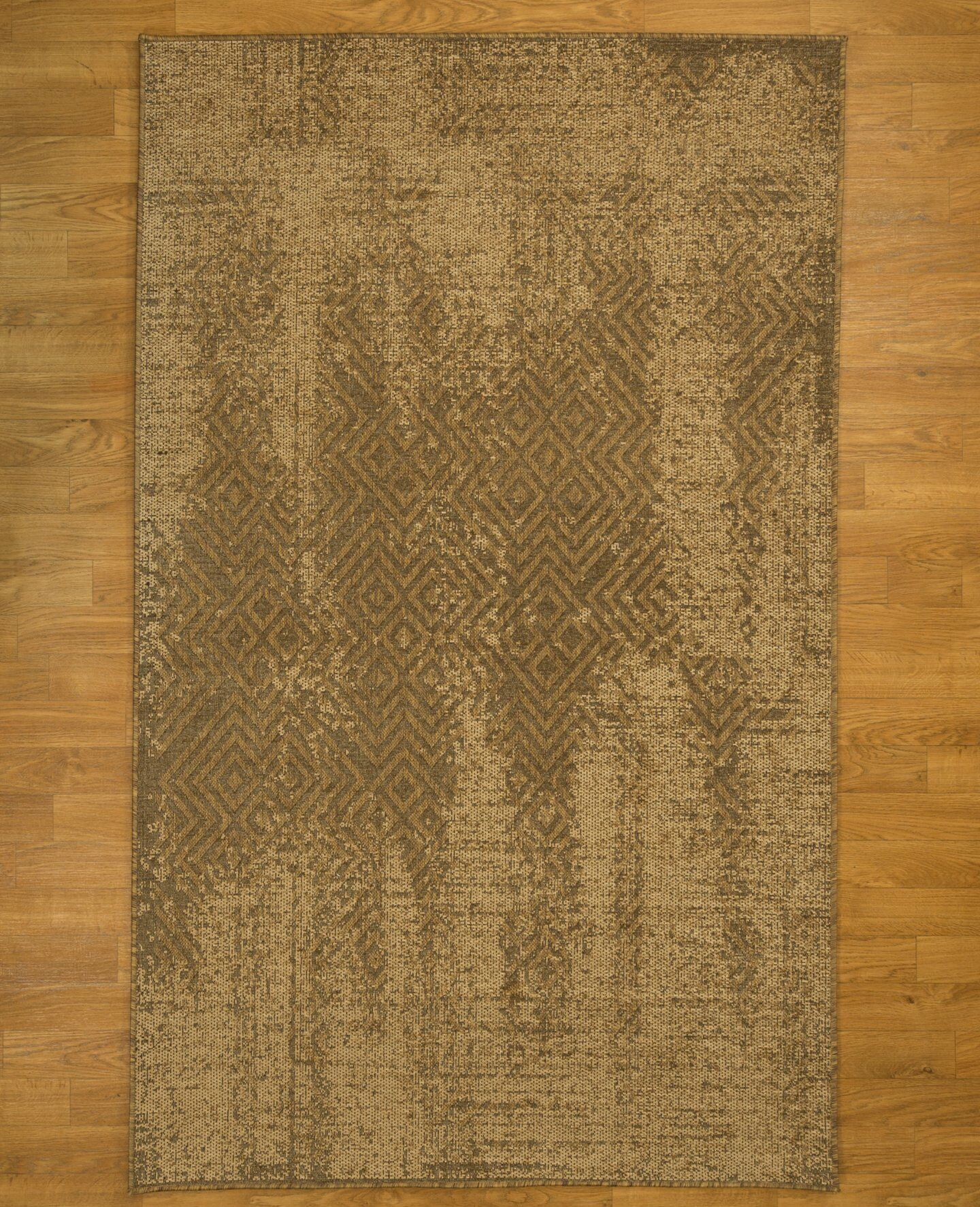 Rome Oriental Hand-Woven Beige Area Rug Rug Size: Rectangle 6'5