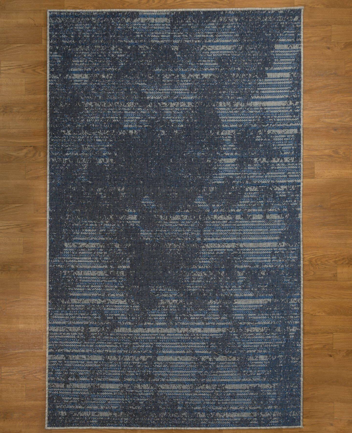 Hand Woven Gray/Blue/Black Area Rug Rug Size: Rectangle 5' x 8'