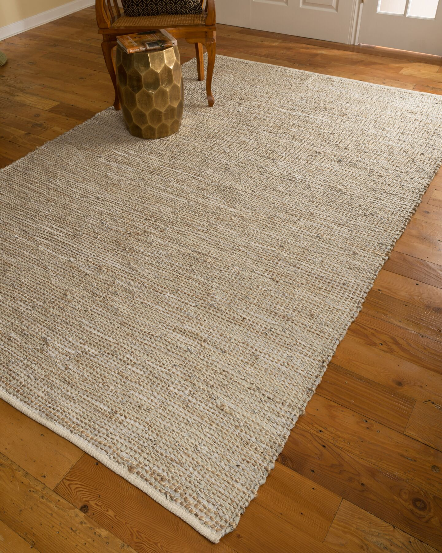 Hand-Loomed Beige Area Rug Rug Size: Rectangle 6' x 9'