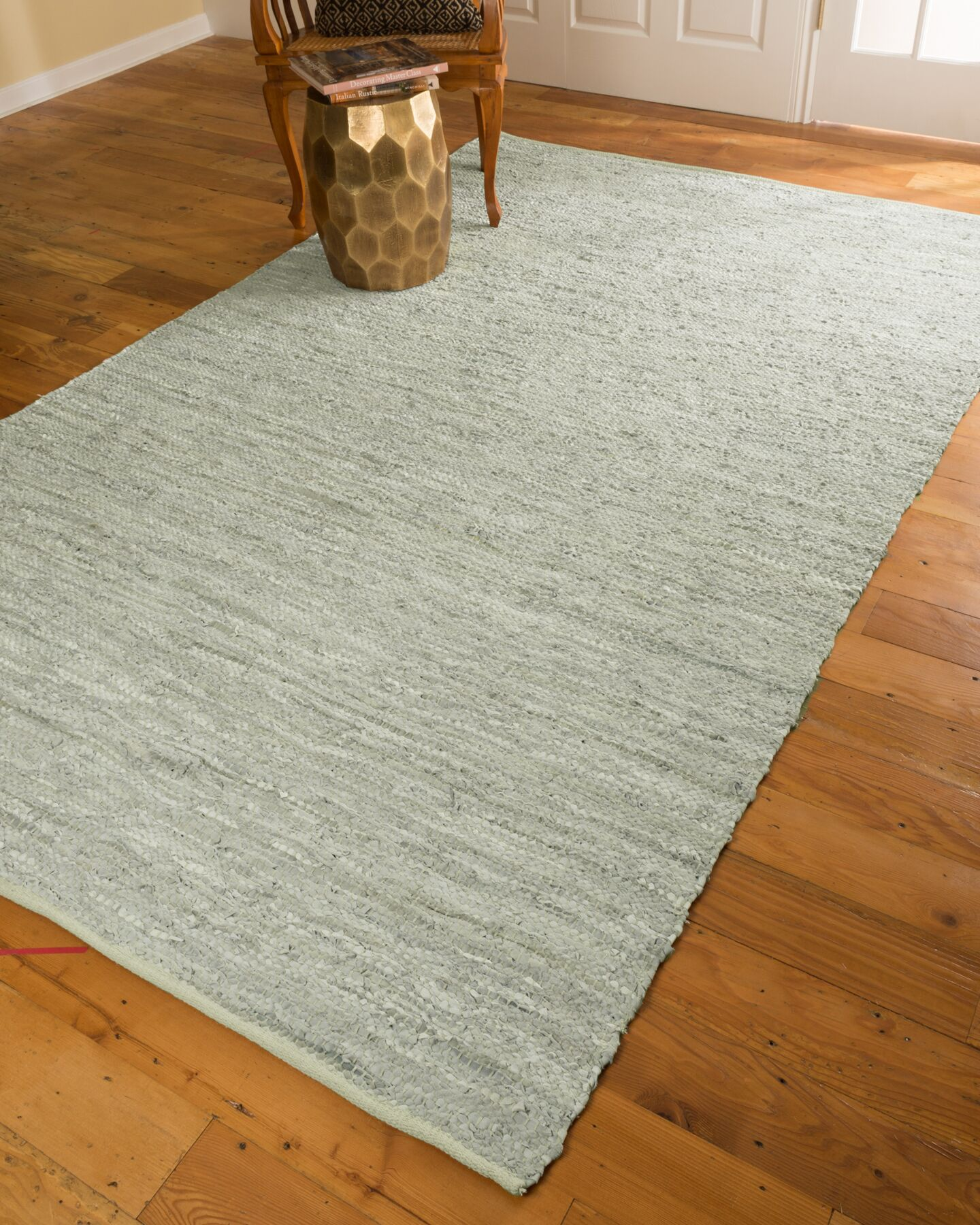 Hand-Loomed White Area Rug Rug Size: Rectangle 6' x 9'