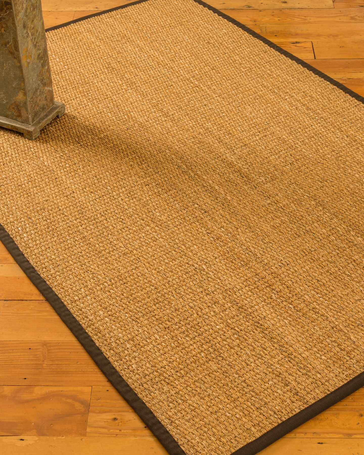 Rainier Hand-Woven Beige/Fudge Brown Area Rug Rug Size: Rectangle 8' x 10'