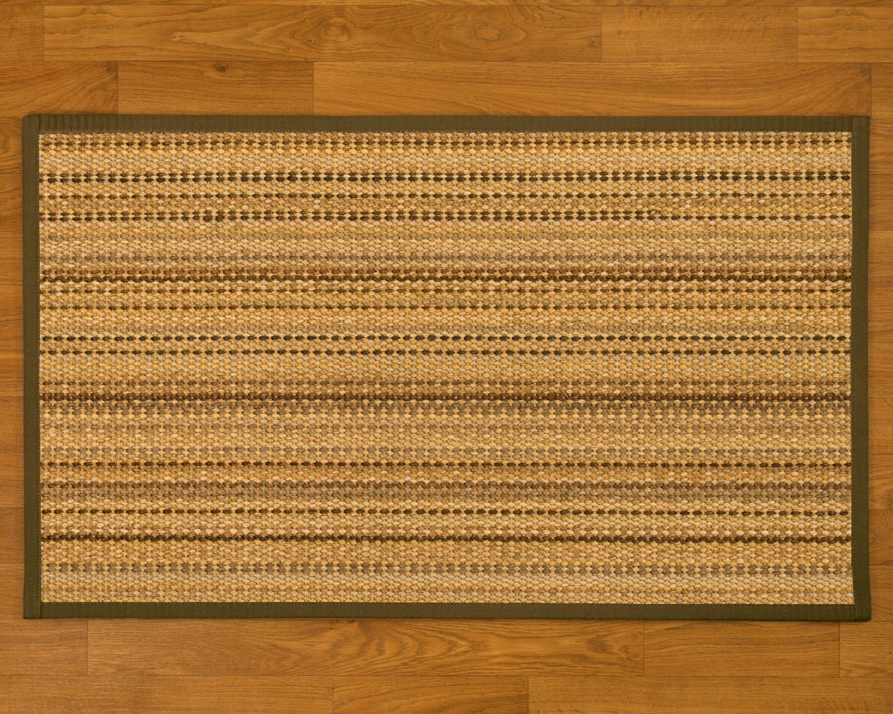 Buschwick Handmade Beige Area Rug Rug Size: Rectangle 6' x 9'