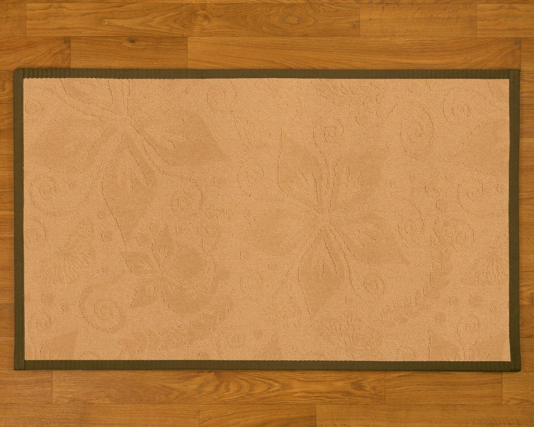Handmade Beige Area Rug Rug Size: Rectangle 6' x 9'