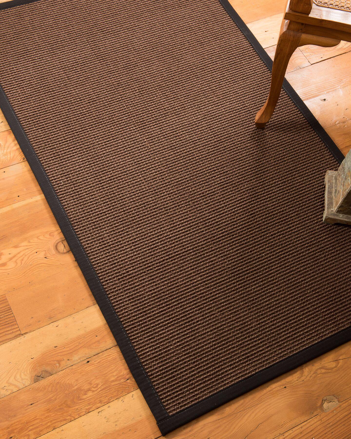 Ripley Hand-Woven Brown Area Rug Rug Size: Rectangle 3' x 5'