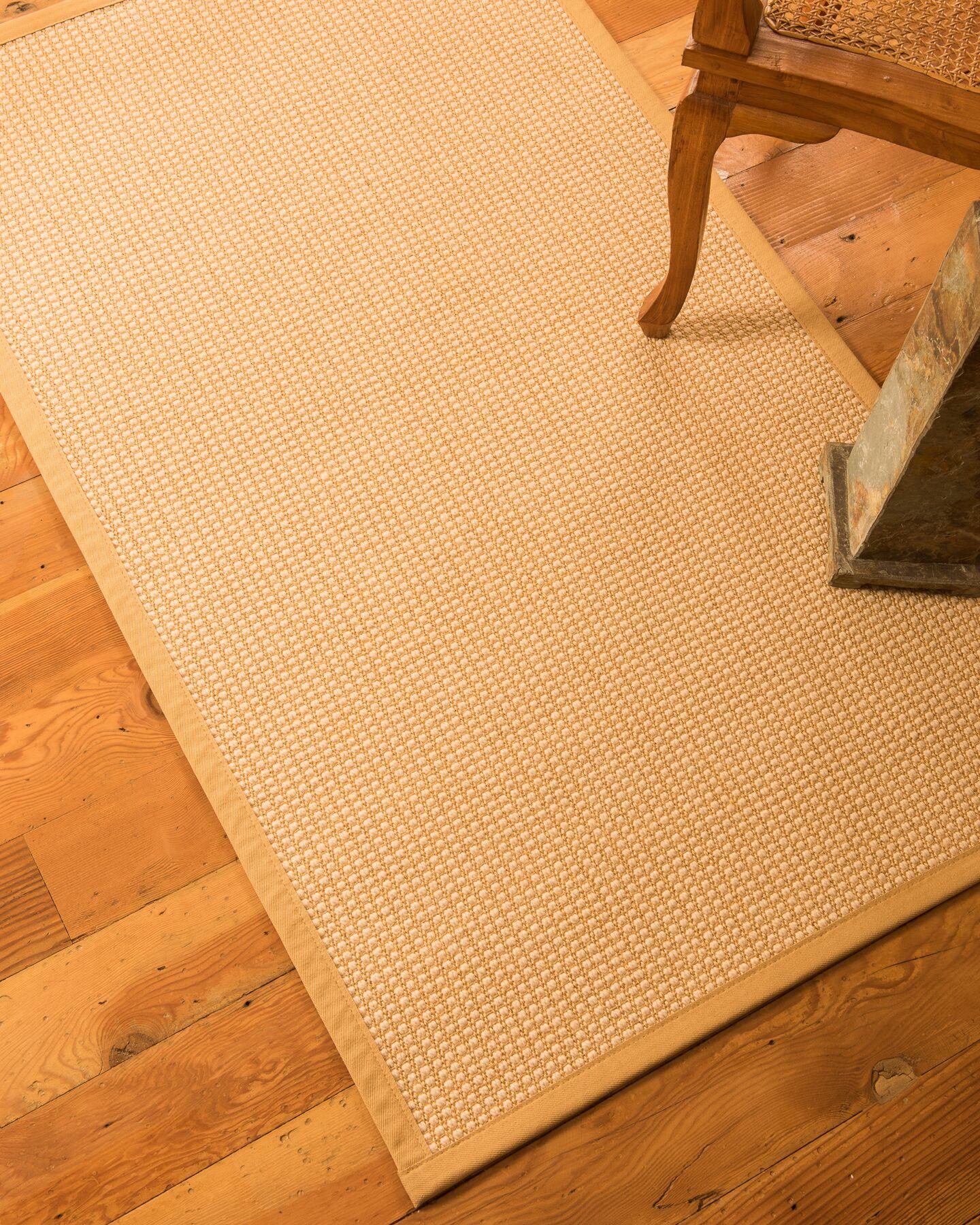 Brashears Hand-Woven Tan Area Rug Rug Size: Rectangle 6' x 9'
