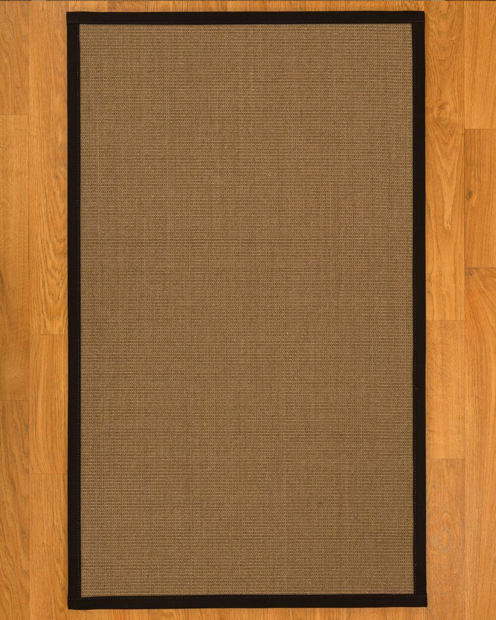 Jamesville Natural Fiber Sisal Plus Bonus Hand-Woven Beige Area Rug Rug Size: Rectangle 6' x 9'