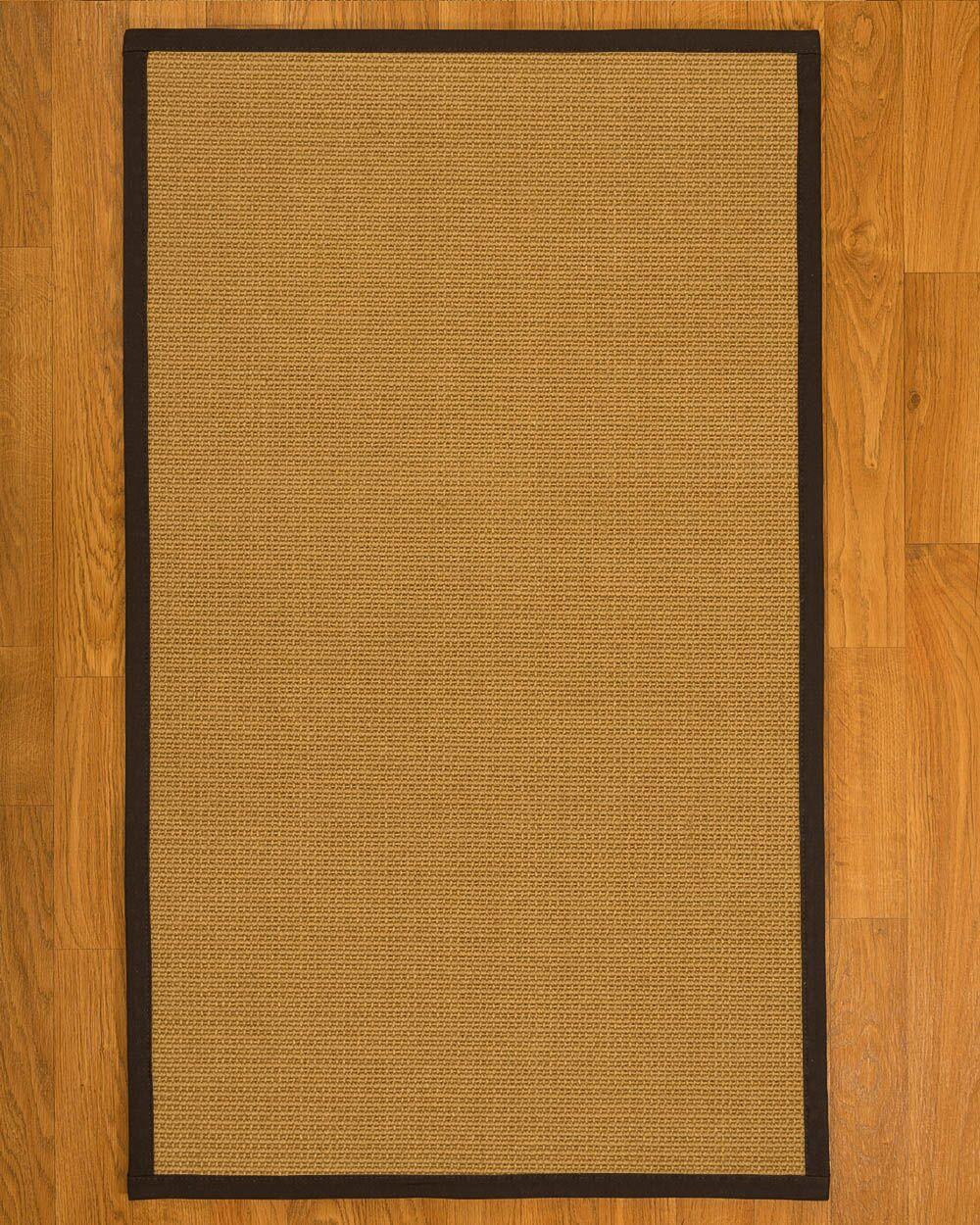 Coleridge Hand Woven Fiber Sisal Brown/Fudge Area Rug with Rug Pad Rug Size: Rectangle 8' x 10'