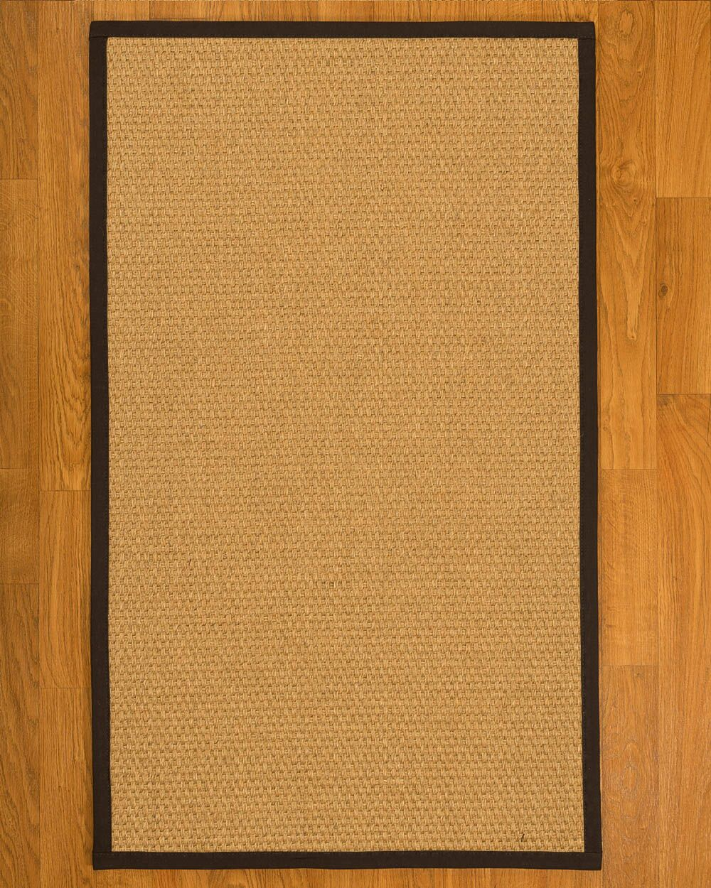 Aureliana Hand Woven Fiber Sisal Brown/Fudge Area Rug Rug Size: Rectangle 3' x 5'