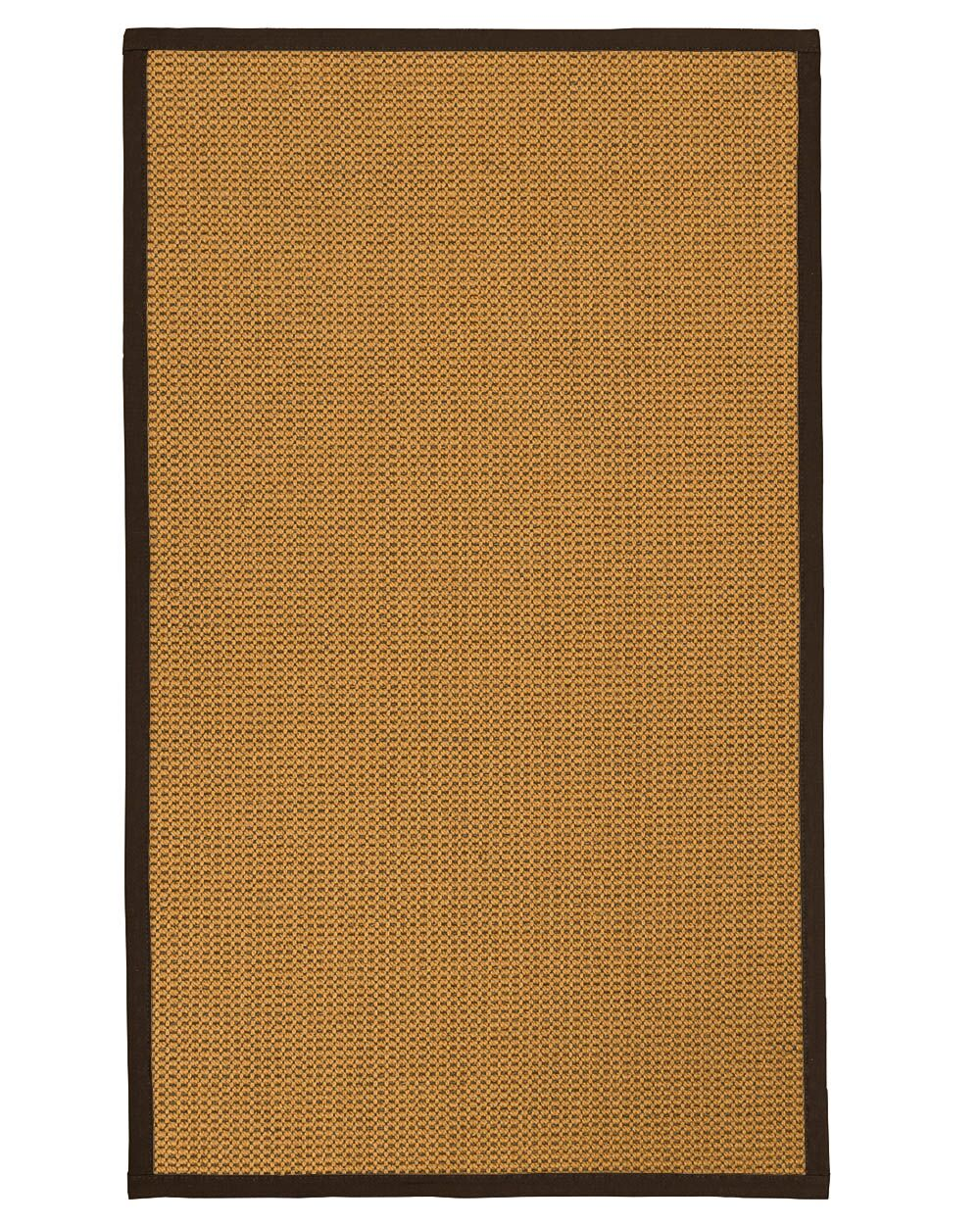 Atia Fiber Hand Woven Sisal Brown/Fudge Area Rug Rug Size: Rectangle 3' x 5'
