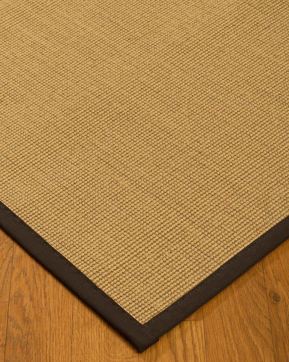 Lanie Hand Woven Fiber Sisal Brown/Fudge Area Rug Rug Size: Rectangle 12' x 15'