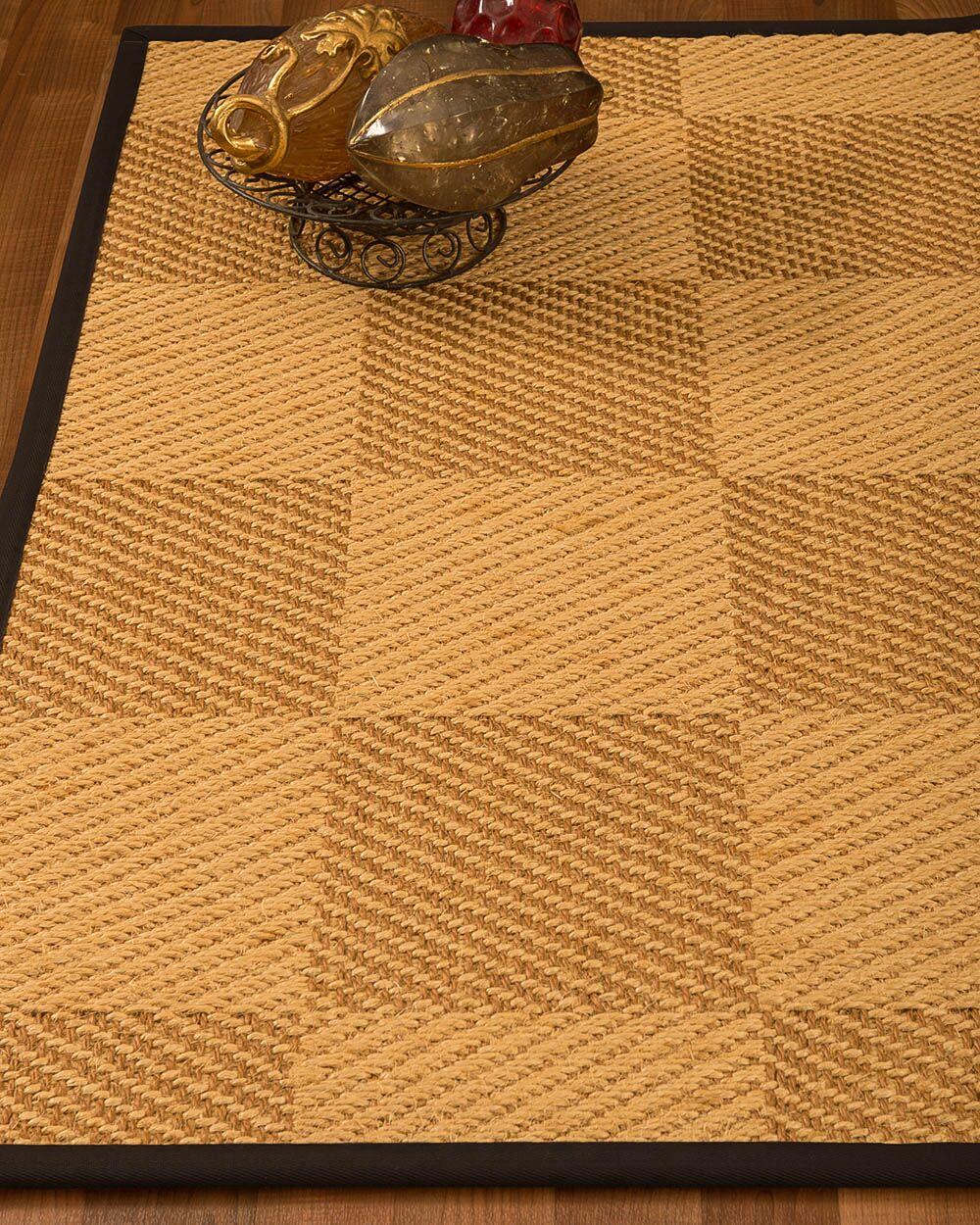 Luhrmann Hand Woven Jute/Sisal Beige/Brown Area Rug Rug Size: Rectangle 4' X 6'
