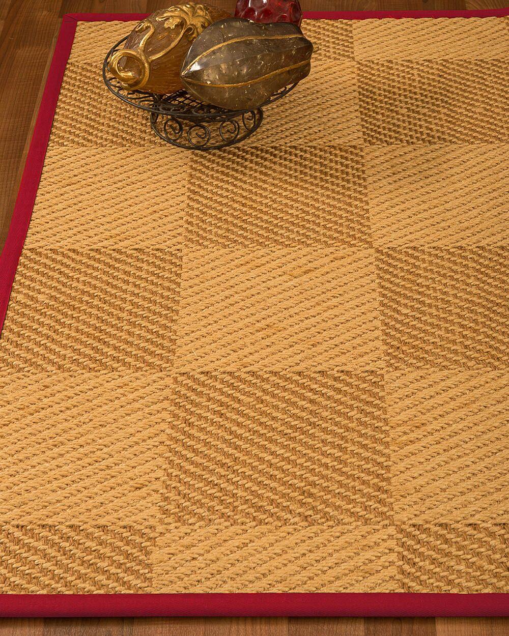 Luhrmann Hand Woven Jute/Sisal Beige/Brown Area Rug Rug Size: Rectangle 6' X 9'