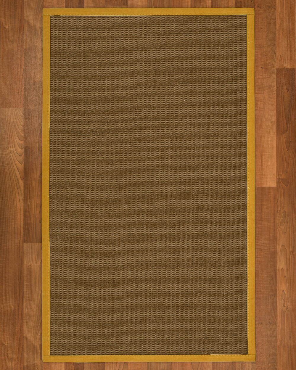 Aderyn Hand Woven Brown Area Rug Rug Size: Rectangle 8' X 10'