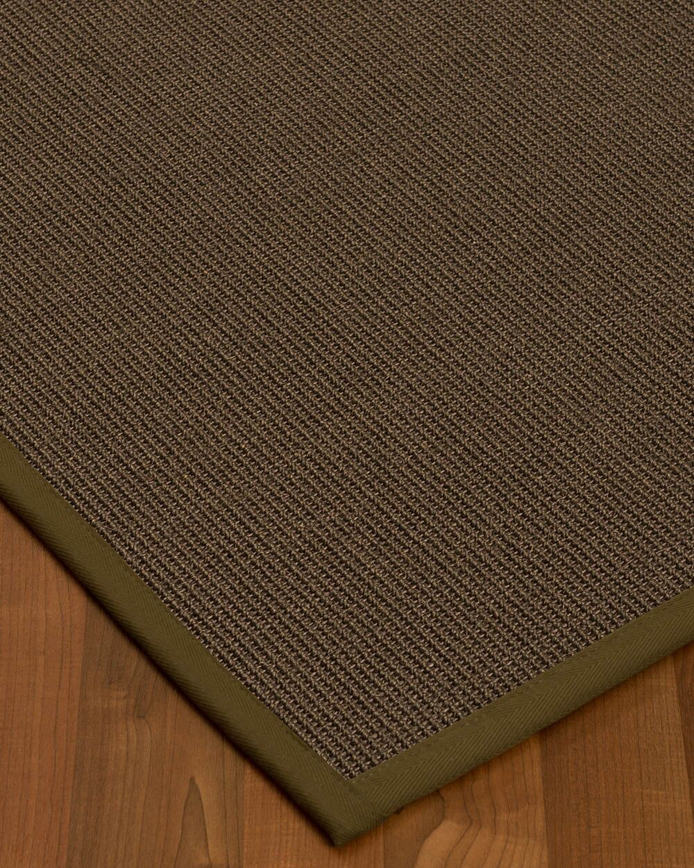 Brokaw Modern Hand Woven Solid Brown Area Rug Rug Size: Rectangle 4' X 6'