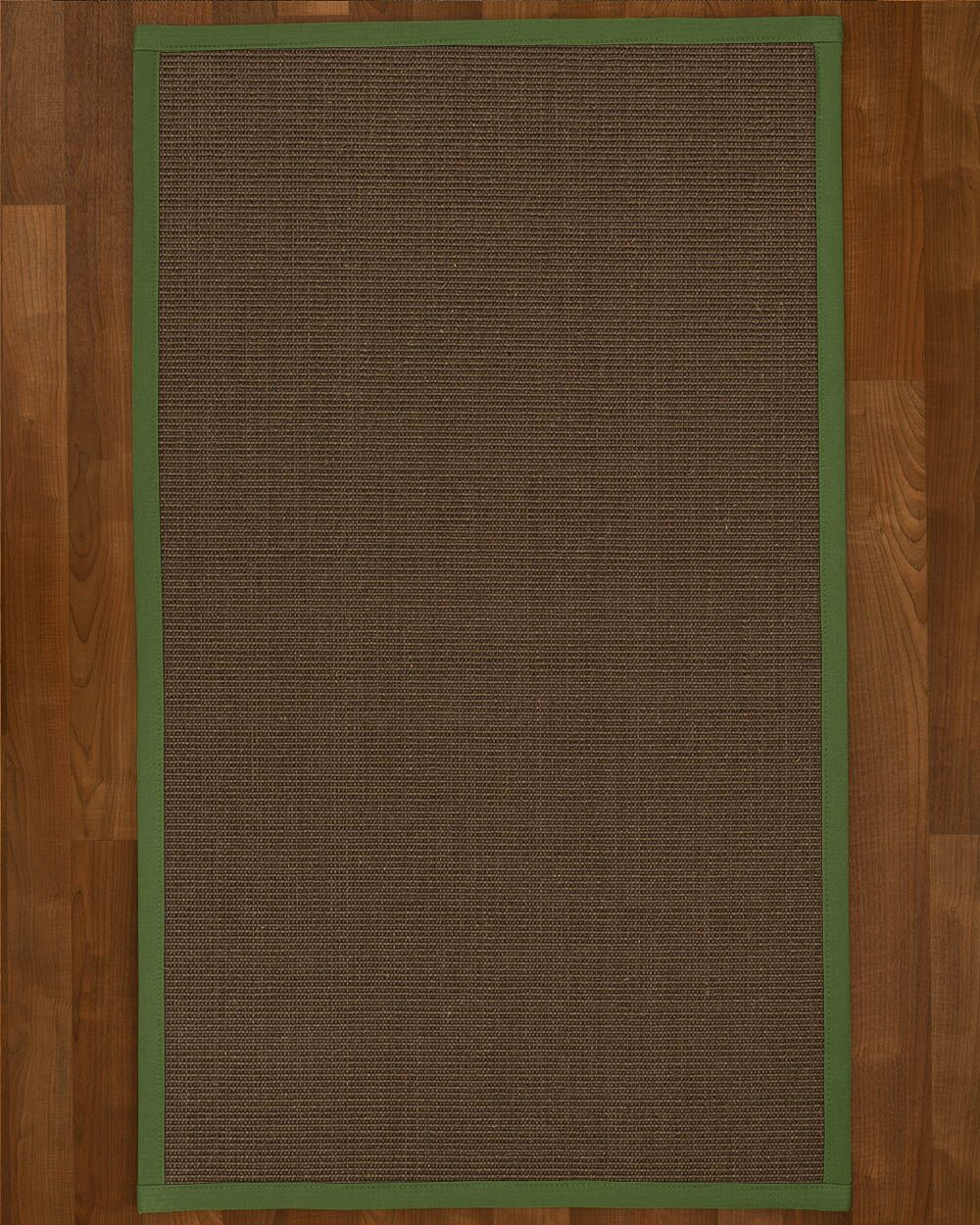 Brokaw Hand Woven Solid Brown Area Rug Rug Size: Rectangle 3' X 5'