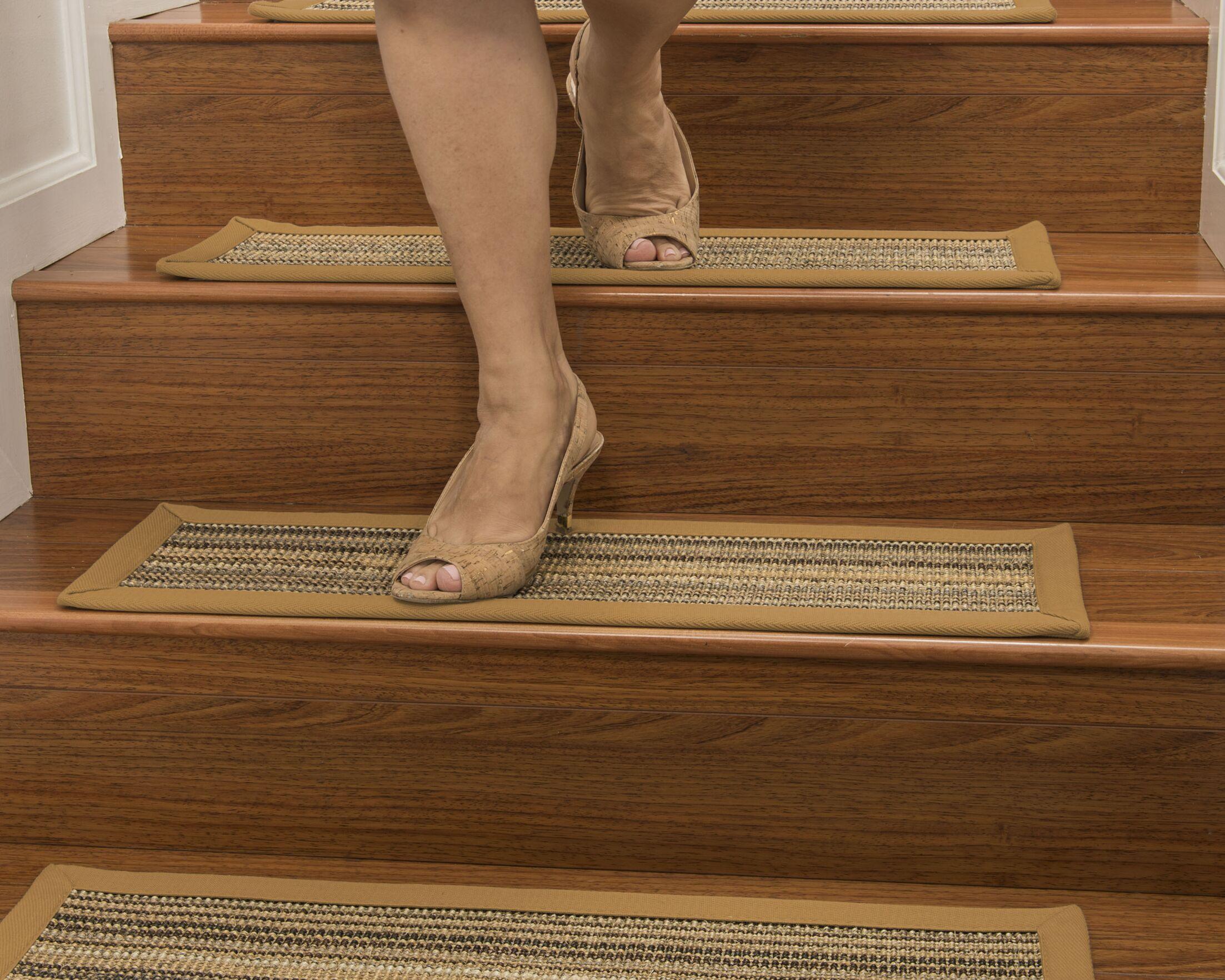 Dover Custom Sisal Stair Tread Color: Khaki